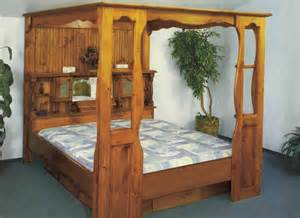 Wood Canopy Bed Frame King Waterbed Grand Universal Canopy Only No Bed Cal K King