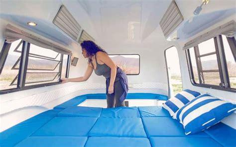 Retro Teardrop Camper For Sale lightweight retro modern camper boasts a modular adaptive