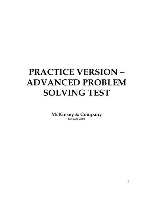 test problem solving advanced problem solving sle