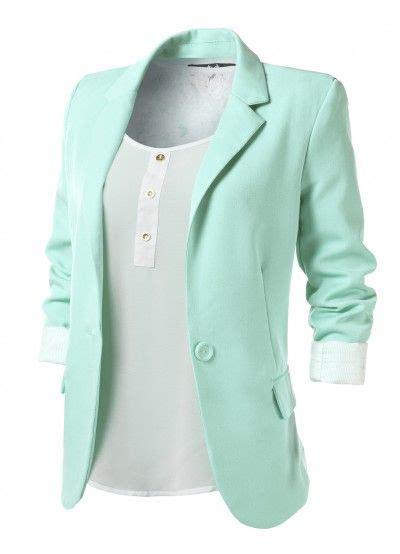 Blazer Mint Mint Womens Boyfriend Blazer Fashion And Makeup