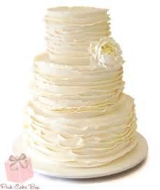 ruffled wedding cake 187 spring wedding cakes