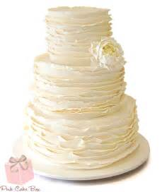 Ruffled Wedding Cake » Spring Wedding Cakes