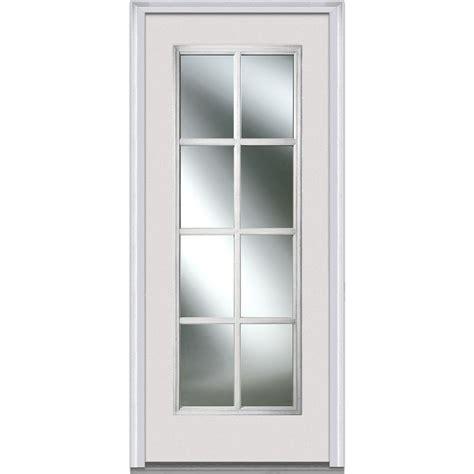 Door Lites Exterior Doors Mmi Door 30 In X 80 In Simulated Divided Lites Left Lite Classic Primed Fiberglass
