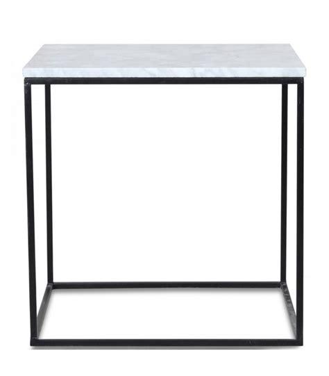 Table Basse Marbre Blanc by Table Basse Carr 233 E En M 233 Tal Noir Et Marbre Blanc