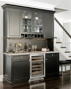 Butler Pantry Cabinets by Black Butlers Pantry Cabinets Transitional Kitchen