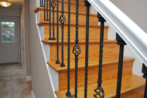 Metal Stair Banisters by Wrought Iron Stair Balusters Stairs
