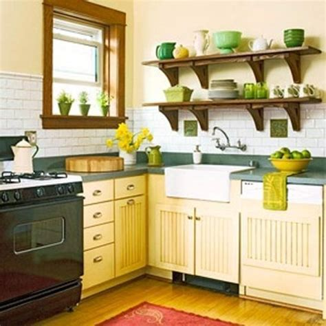 small yellow kitchen small kitchen designs in yellow and green colors