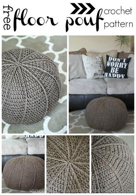 crochet pouf ottoman pattern free 25 best ideas about floor pouf on pinterest crochet