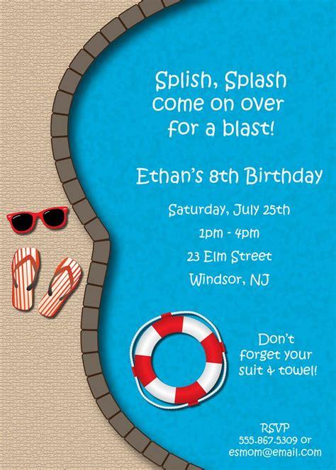 free swimming party invitations delli beriberi co