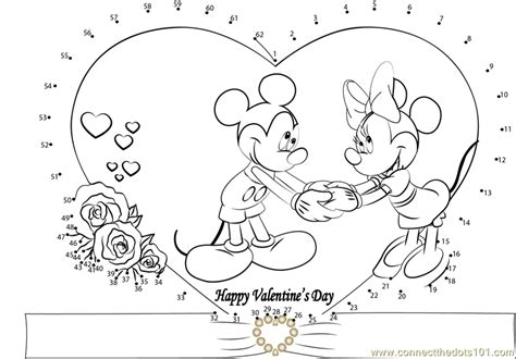 printable valentine dot to dot valentines day mickey dot to dot printable worksheet