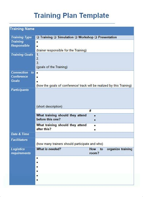 workshop template sle plan template 19 free documents in