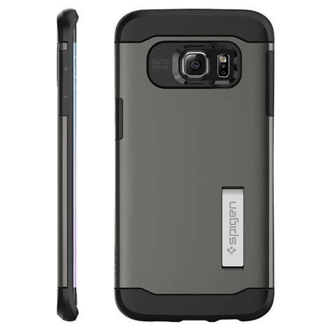 Spigen Samsung Galaxy S6 Edge Slim Armor Mobile Yellow spigen slim armor skal till samsung galaxy s6 edge plus gunmetal themobilestore