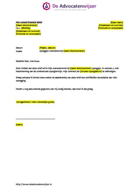 bedrijf aan huis voorbeelden voorbeeldbrief opzeggen overeenkomst gratis download