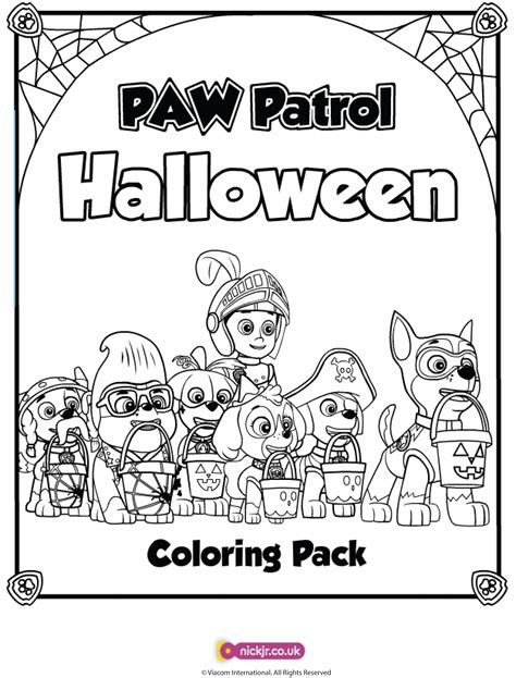 halloween coloring pages paw patrol paw patrol halloween coloring pages