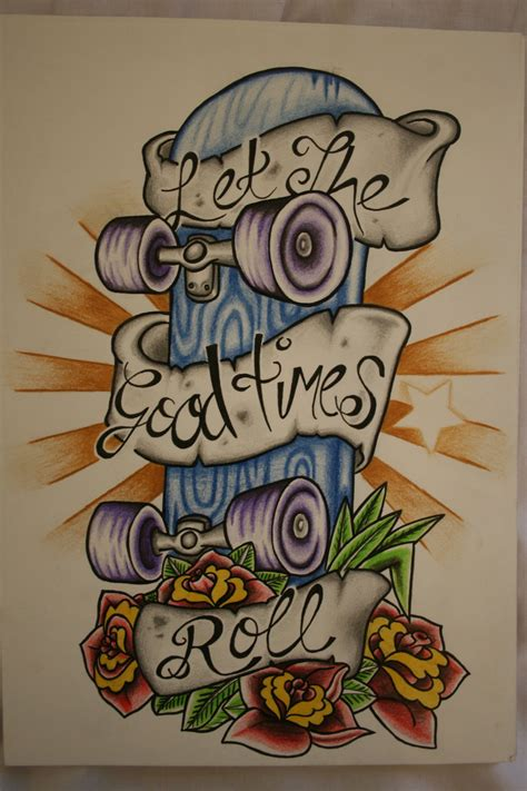 skateboard tattoo designs skateboard design by itchysack on deviantart