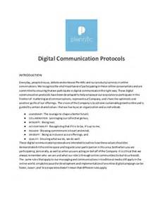 protocol document template digital communications protocol template