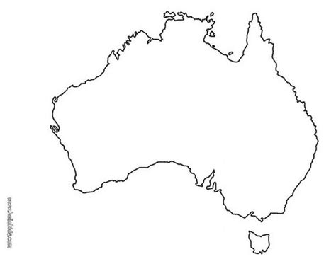 Australia Map Coloring Pages Hellokids Com Australia Map Coloring Page