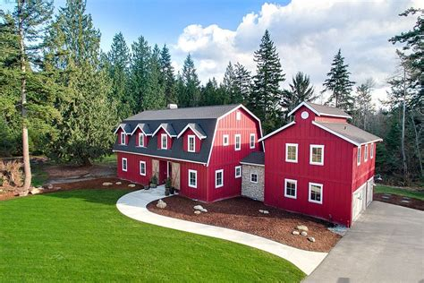 barn like homes find modern country in a new 1 45m red barn house
