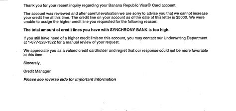 credit card cancellation letter to bank exceed the exposure limit letter with syncb myfico
