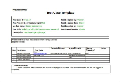 Test Case Template 22 Free Word Excel Pdf Documents Download Free Premium Templates Test Template Excel