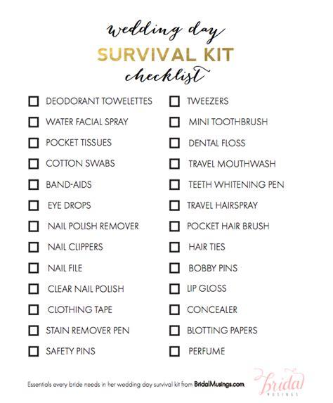 Wedding Necessities Checklist by Makeup Kit List With Mugeek Vidalondon