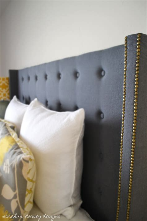 build tufted headboard diy upholstered headboard decoist