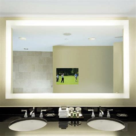 electric mirror silhouette 36 quot x 36 quot lighted mirror tv