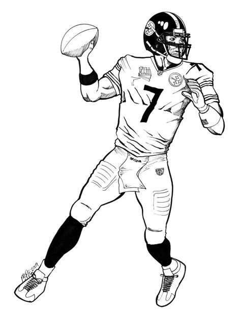 football card coloring page ben roethlisberger coloring pages coloring pages