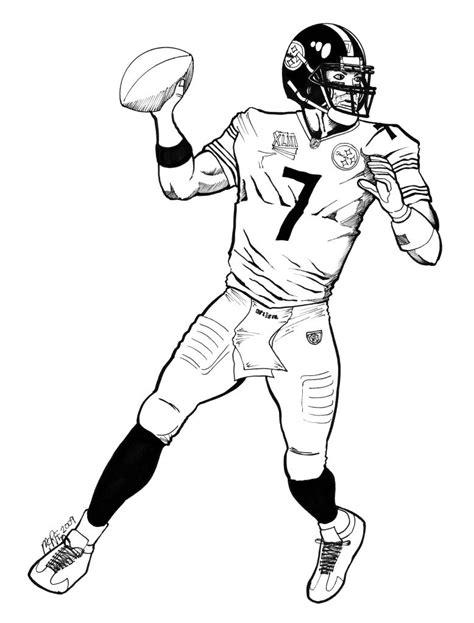 nfl quarterback coloring pages paul 39 s blog drawings quarterback coloring page in