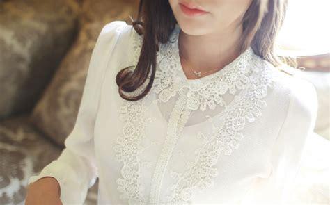 Grosir Baju Blouse My My Style Bl v neck blouse korea import bl3089 white tamochi