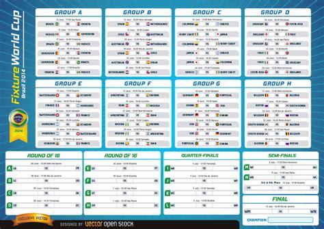 schedule photoshop world fixture world cup brazil 2014 vector download