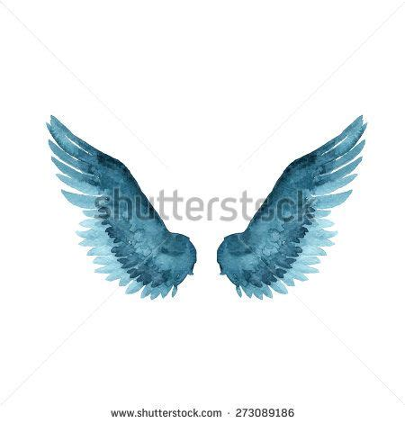 watercolor tattoo wings wings icon watercolor style vector illustration stock