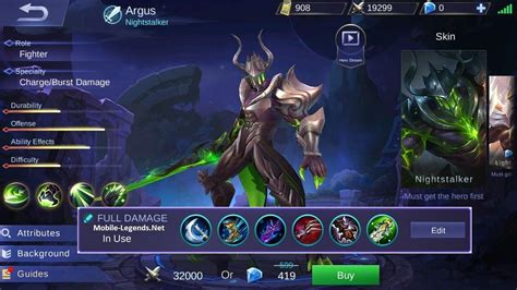 mobile legend damage argus damage build 2018 mobile legends