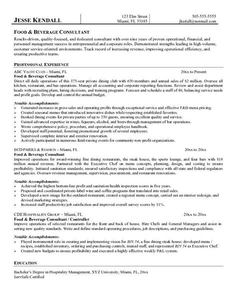 food and beverage resume template line cook resume sles lactosetivg39 blogcu