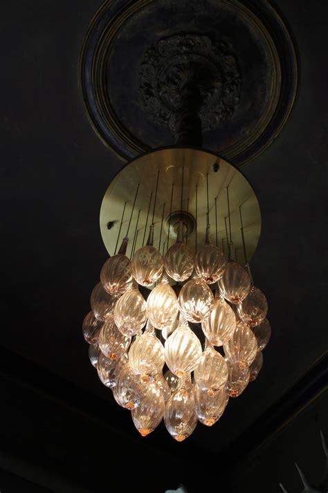 Teardrop Chandelier Italian Mid Century Modern Brass And Pink Murano Glass Teardrop Chandelier At 1stdibs