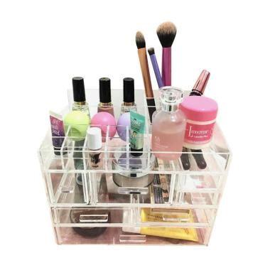 Acrylic Akrilik Tempat Make Up Organizer Dx2 jual acrylic makeup tipe i2 make up organizer harga kualitas terjamin blibli