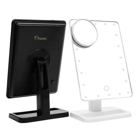 portable mirror with lights makeup mirror 20 led lights portable vanity lighted 10x