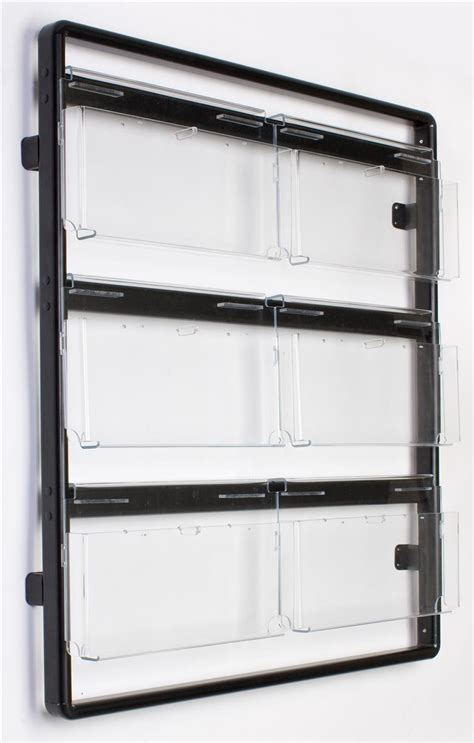Literature Rack Wall Mount by Black Convertible 3 Tier Literature Rack Clear Acrylic