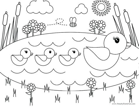 free coloring pages for preschoolers spring free coloring pages for spring sendflare co