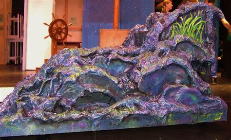 How To Make Paper Mache Rocks - 2 sided paper mache mermaid rock ursula s side www