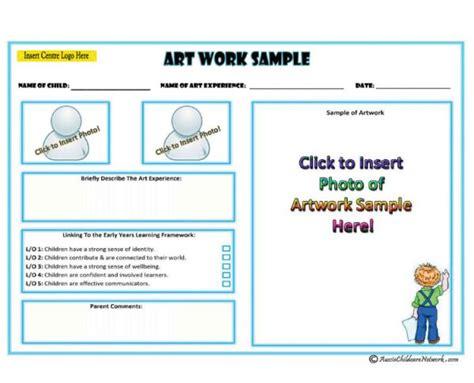 Art Work Sle Aussie Childcare Network Learning Portfolio Template
