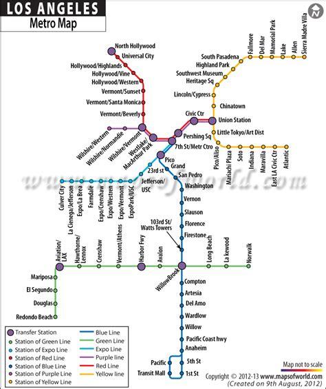 los angeles subway map los angeles city metro map fast facts los angeles angeles and