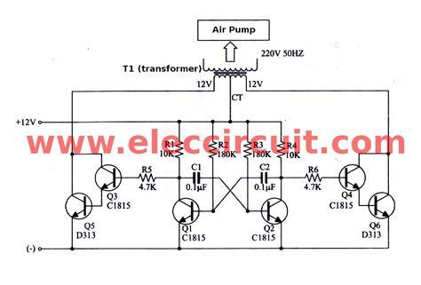 transistor inverter simple inverter circuit using 6 transistor