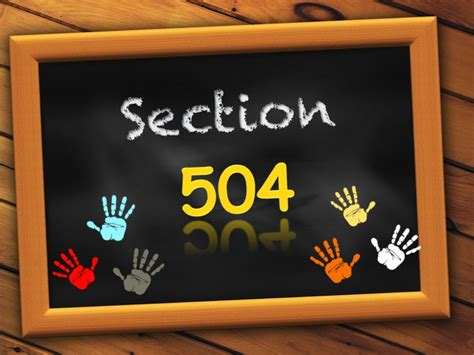section 504 of the rehabilitation act section 504 pics4learning
