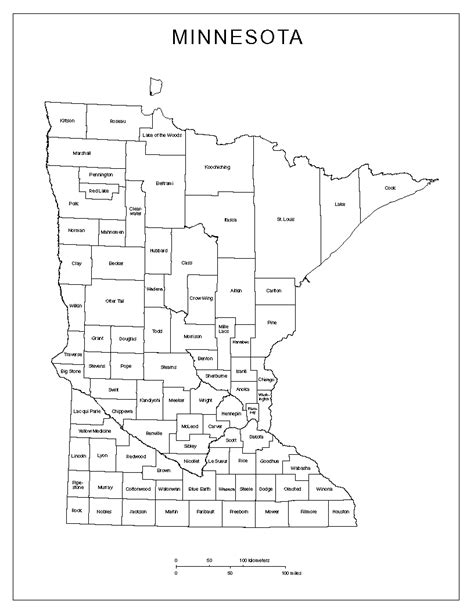 mn county map minnesota labeled map