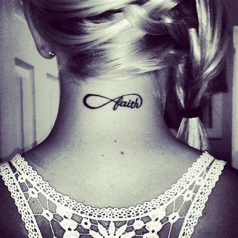 infinity tattoo neck meaning neck infinity tattoo faith tattoo pinterest
