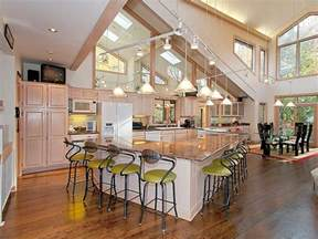 open house plans with large kitchens open kitchen floor plans with islands home design and