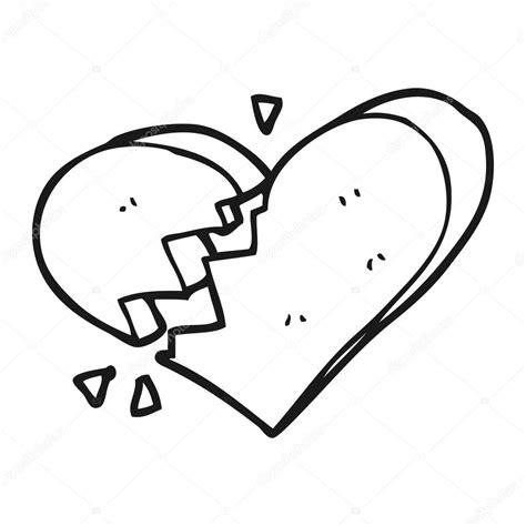 Imagenes De Amor Roto Para Dibujar | blanco y negro dibujos animados de coraz 243 n roto archivo