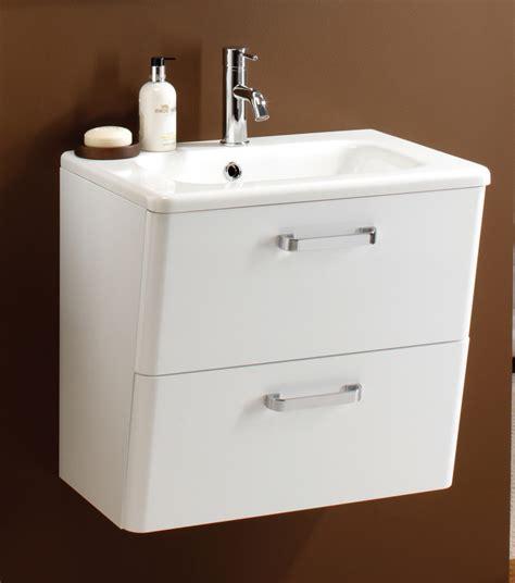 hib palamas 600mm wall hung vanity unit and basin white