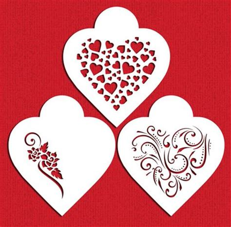cookie stencil templates contemporary hearts cookie stencil